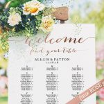 rose gold seating chart