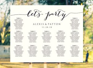 Let's Party Wedding Seating Chart