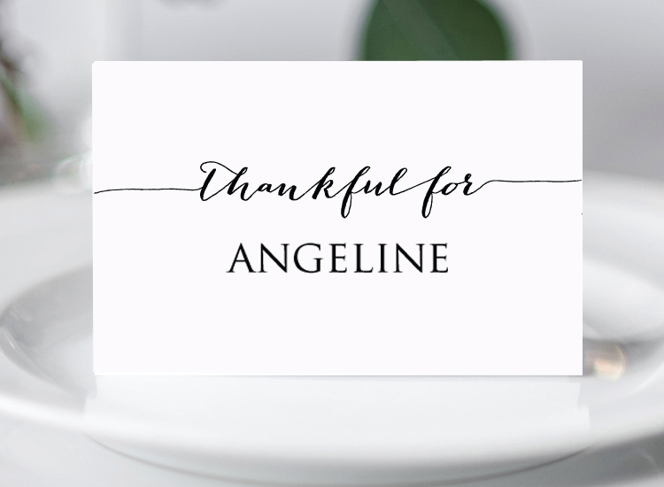 Free Thanksgiving Place Card Template Wedding Templates And
