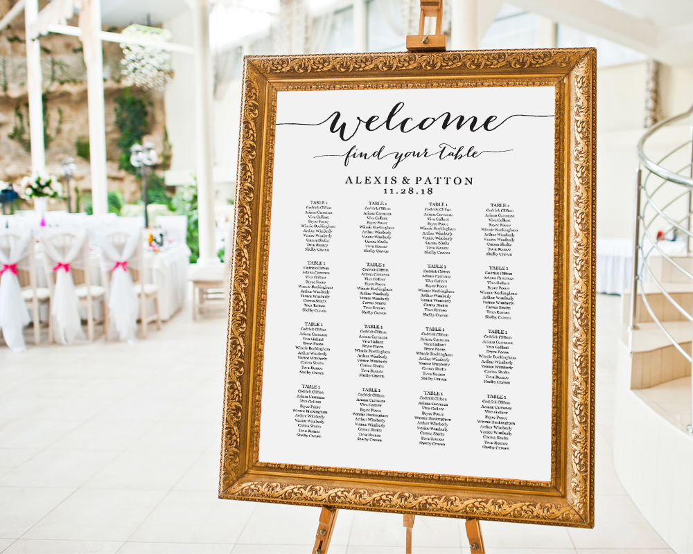 Seating Chart Templates, Wedding Seating Chart Ideas · Wedding Templates  and Printables