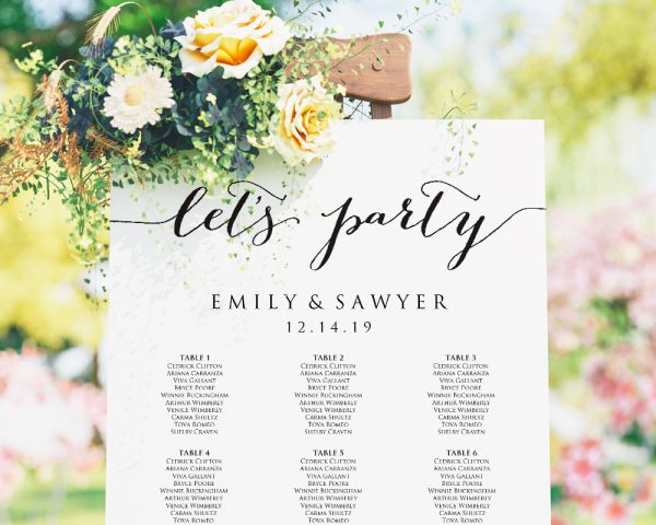let's party wedding