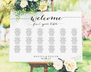 welcome wedding seating chart