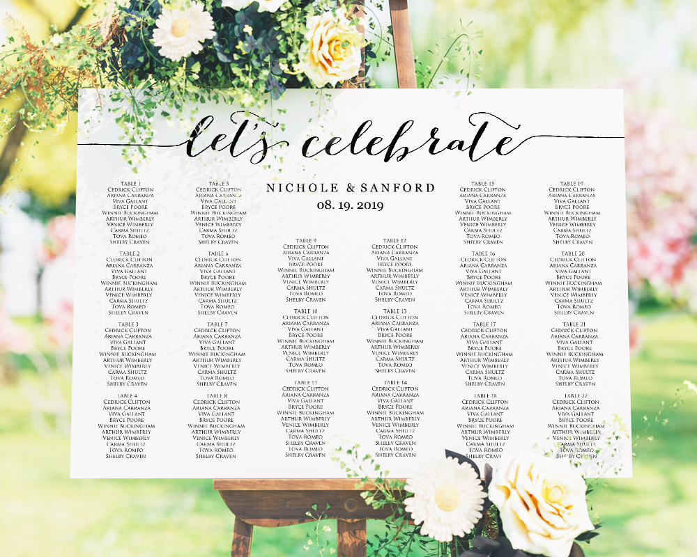 let s celebrate diy seating chart wedding templates and printables