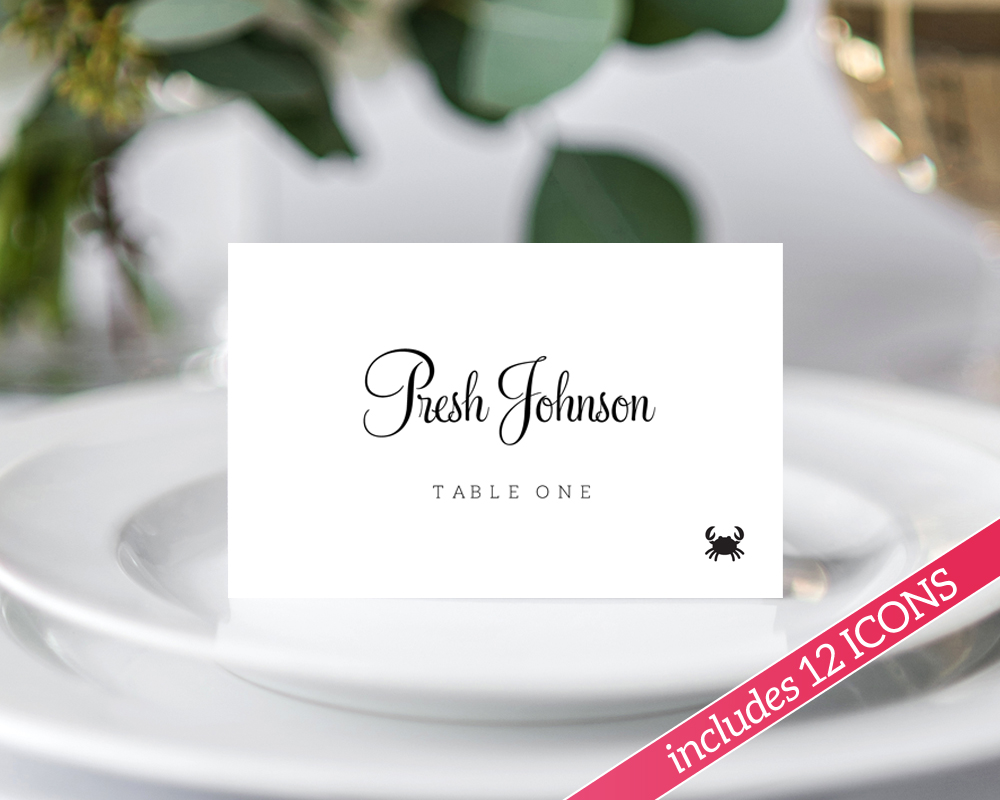 DIY Printable Place Cards · Wedding Templates and Printables