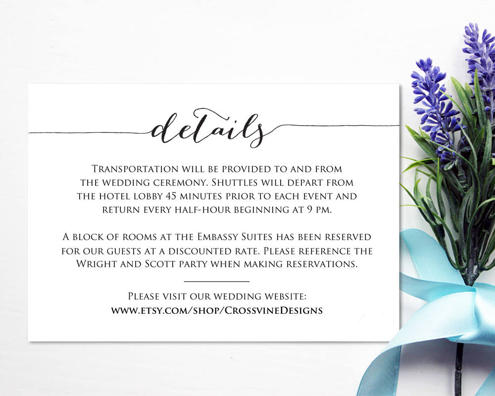 wedding invitation inserts template best template collection