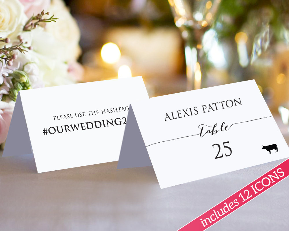 food placecards
