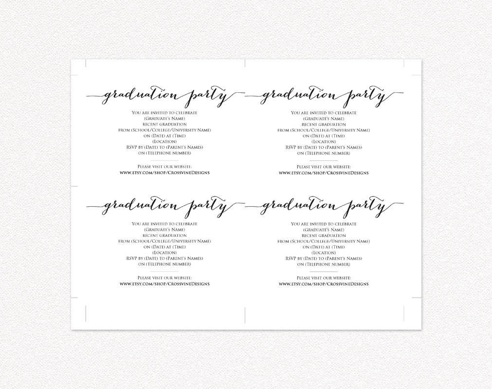 graduation party invitation template wedding templates and printables