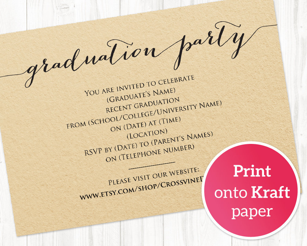Graduation Party Invitation Template Wedding Templates And Printables - Class party invitation template
