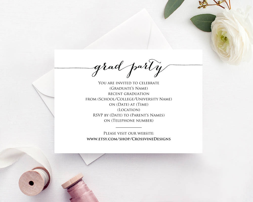 Graduation Party Invitation · Wedding Templates and Printables