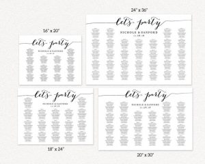lets party seating charts