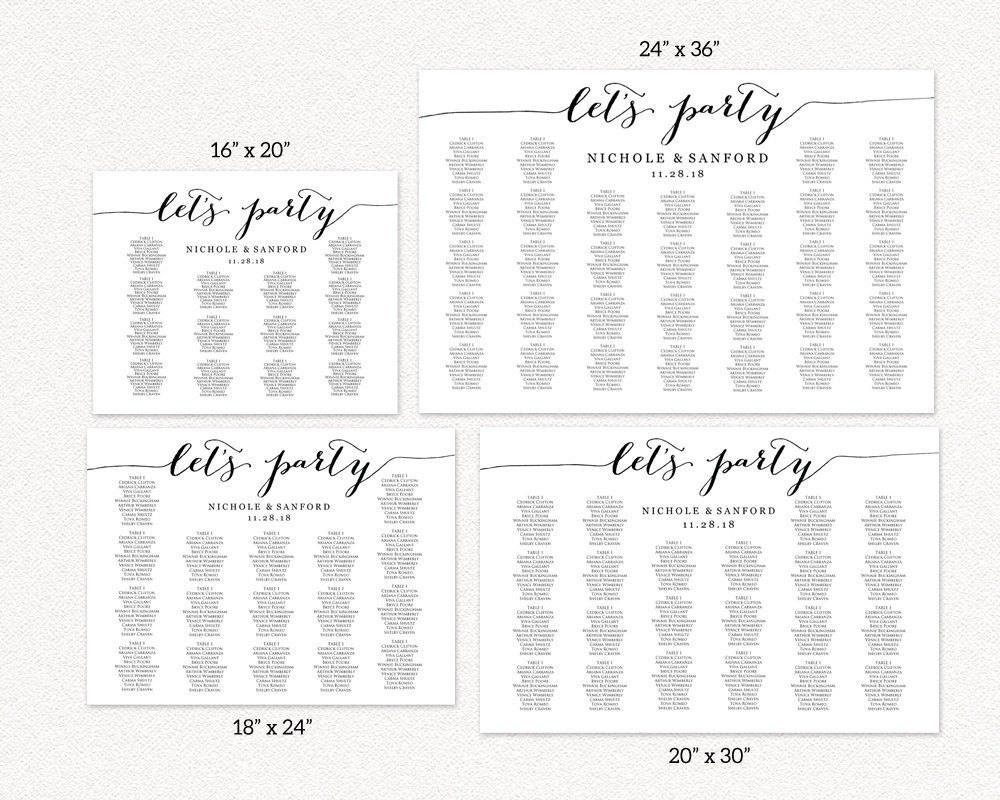 Let S Party Seating Charts Wedding Templates And Printables