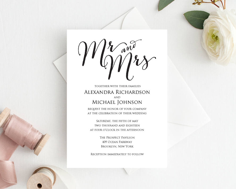 Wedding Invitation Template · Wedding Templates and Printables