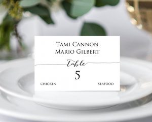 S Place Card Templates