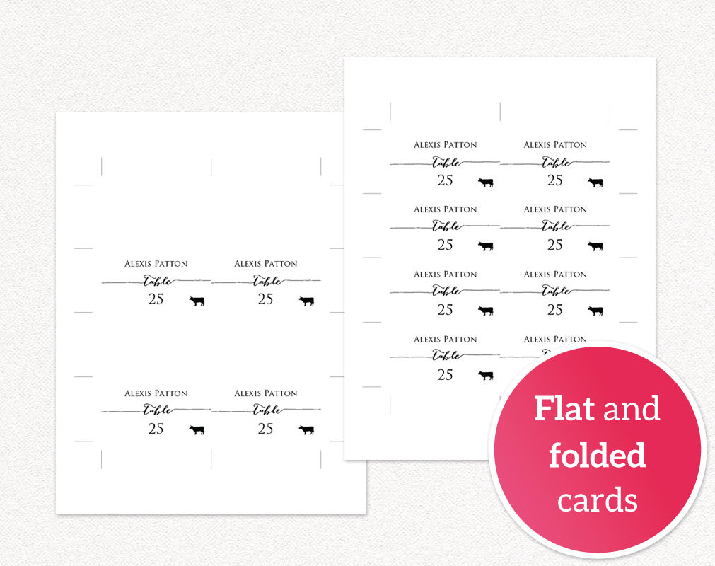 Place Cards With Meal Options Wedding Templates And Printables - Place cards with meal choice template