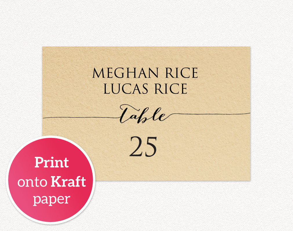 template for wedding place cards