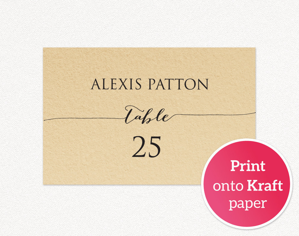 Wedding Place Card Templates Wedding Templates And Printables - Template for place cards