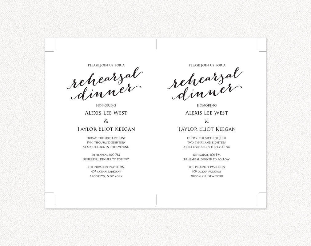 rehearsal dinner invitation template wedding templates and printables