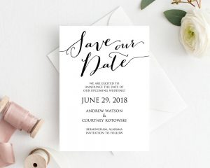 save the dates wedding templates and printables