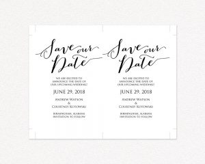 Save The Dates Wedding Templates And Printables - Make your own save the date cards templates
