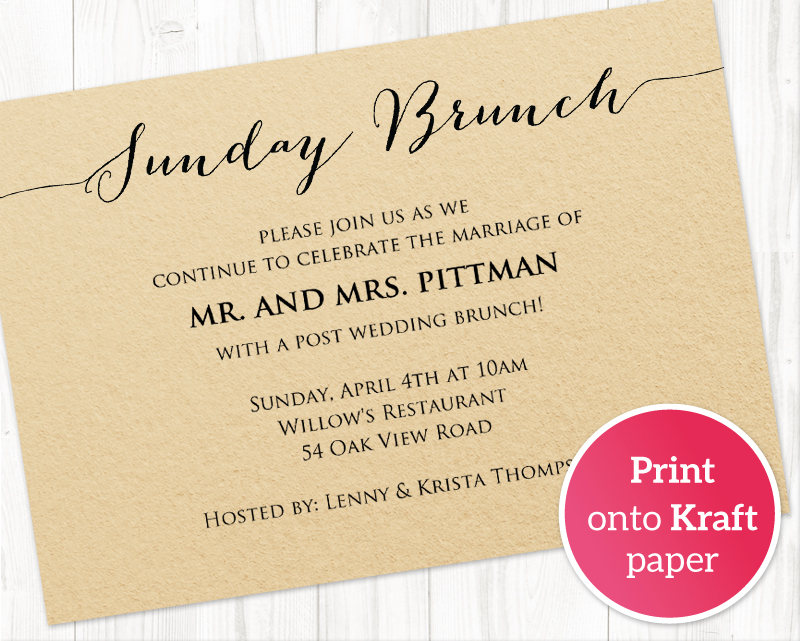 sunday brunch details card insert wedding templates and printables