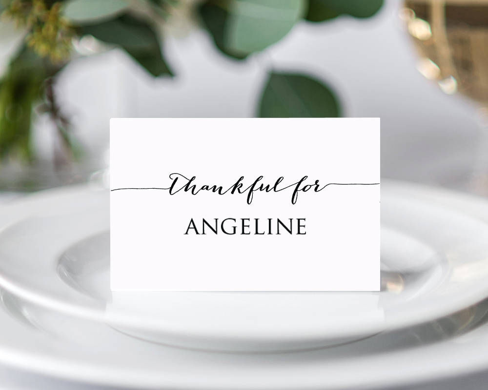 thanksgiving place cards wedding templates and printables. Black Bedroom Furniture Sets. Home Design Ideas