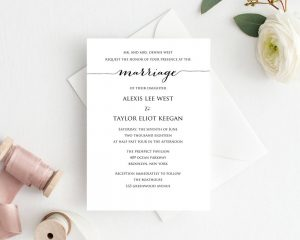 Invitations · Wedding Templates and Printables