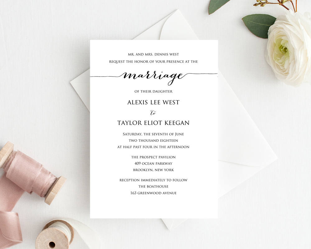 DIY Wedding Invitation Printable