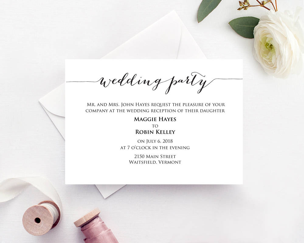 Wedding Party Invitation · Wedding Templates and Printables