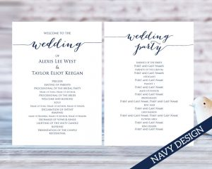 Wedding Program Templates Wedding Templates And Printables - Easy wedding program template