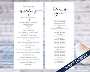 Printable Wedding Programs  Printable Program Templates