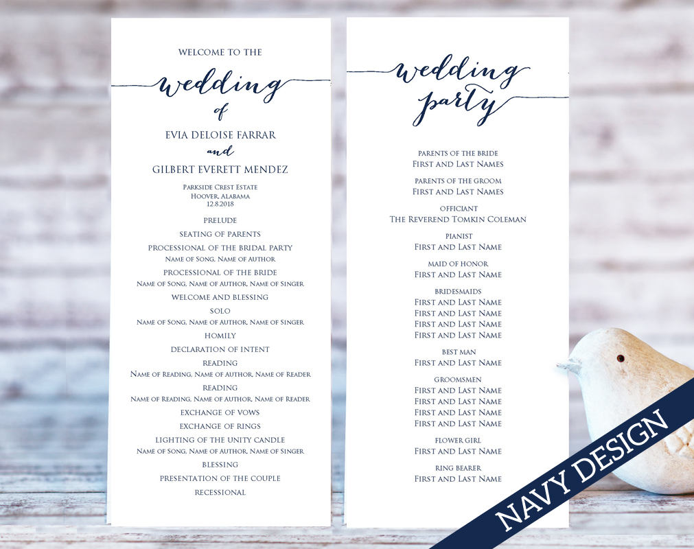 wedding program templates wedding templates and printables