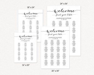 Seating Chart Templates  Printable Seating Charts