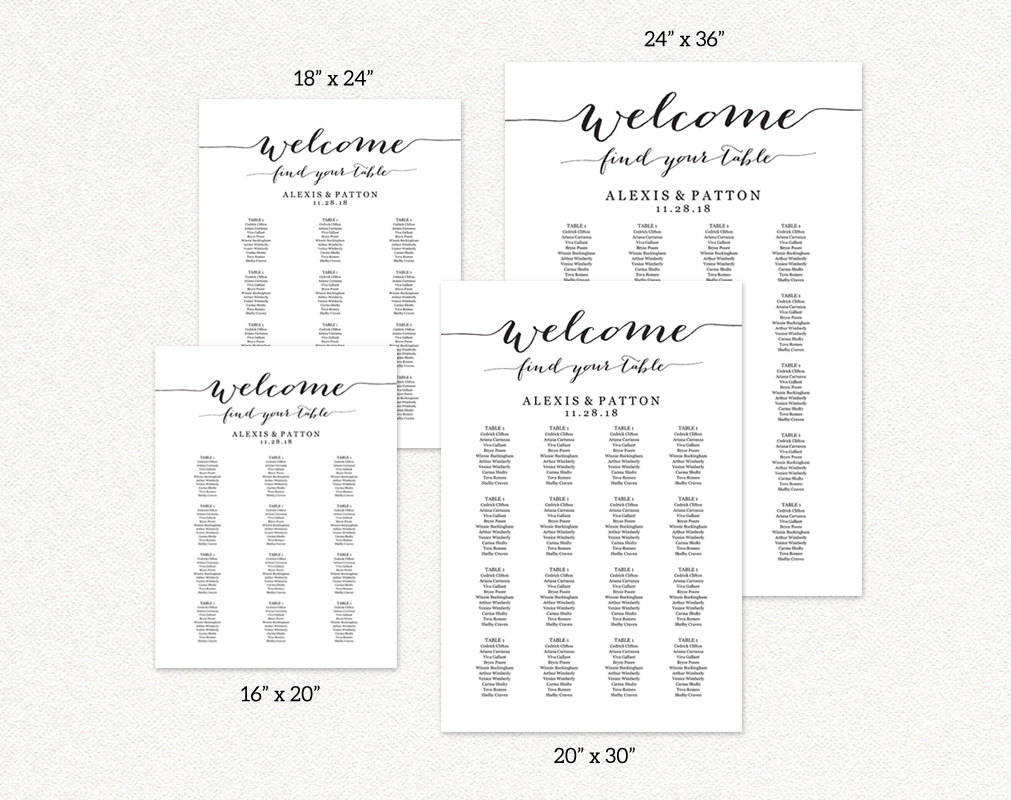 Seating Chart Templates Wedding Templates And Printables
