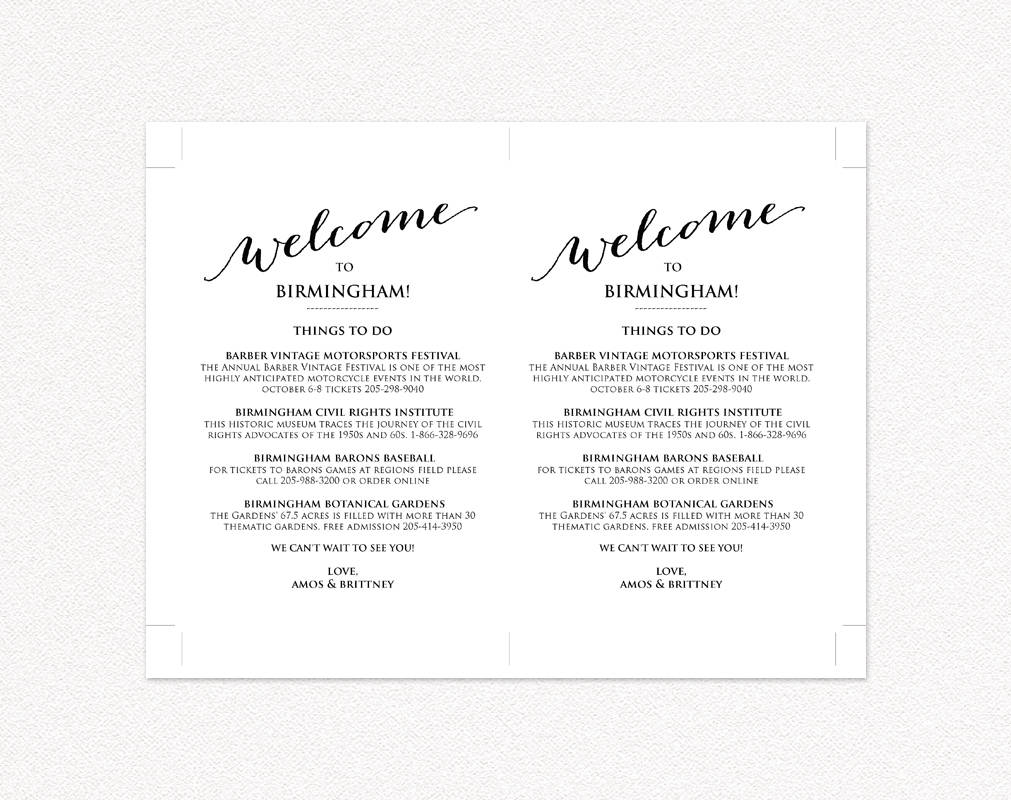 wedding weekend itinerary wedding templates and printables. Black Bedroom Furniture Sets. Home Design Ideas