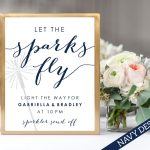 wedding sparkler sign